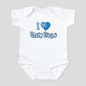 I Love [Heart] Snow Days Infant Bodysuit